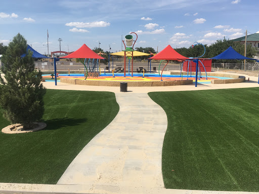 Splash pad Fence install